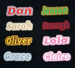 Personalised-Embroidered-Name-Patch-Badge-G1-Iron-on-or-sew