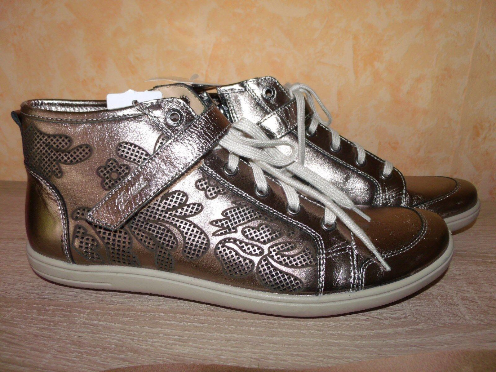 Jomos marca de zapatillas botín cortos nuevo en bronce-Gold & cuero prestigio!