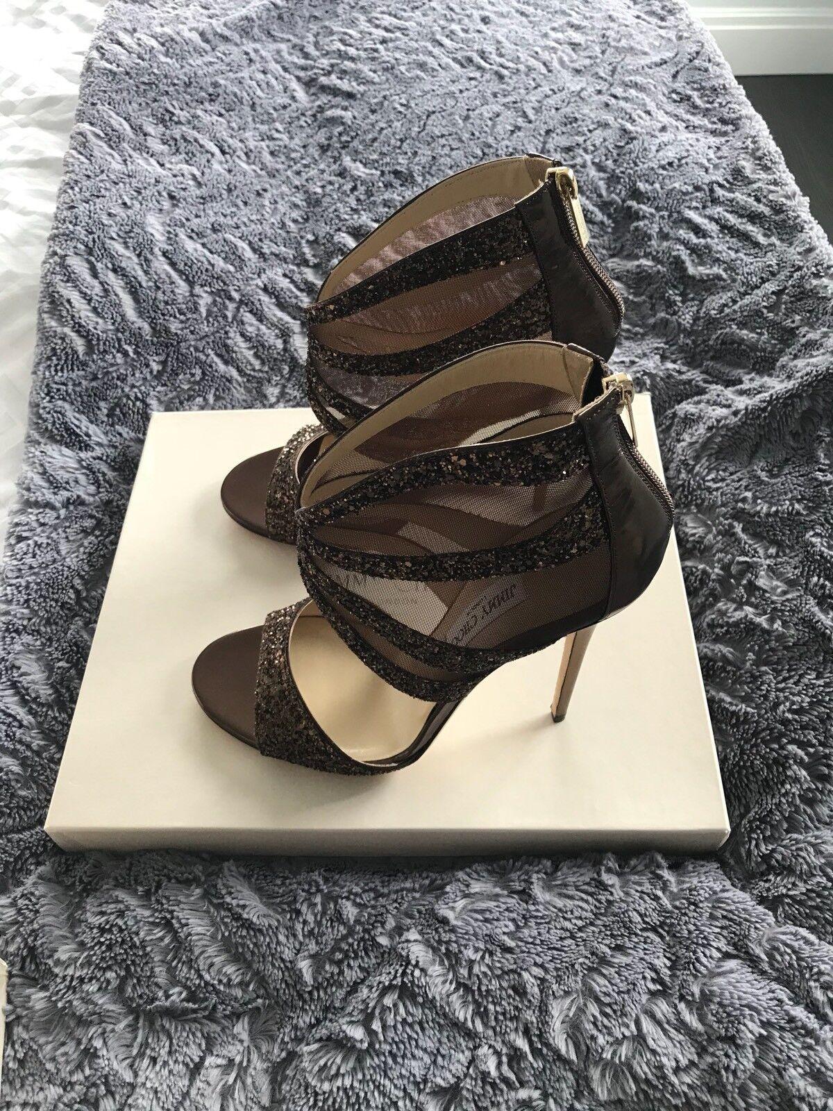 servizio onesto Bronze Evening Evening Evening Jimmy Choo scarpe NIB Dimensione 41  spedizione veloce a te
