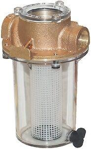 "New Arg Raw Water Strainer groco Arg-1000-p Ports 1/"" NPT Basket Polyethylene 9/"""