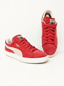 Details about PUMA suede Classic+ high risk red white size 9 352634 65