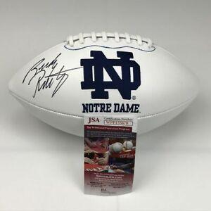 Autographed/Signed RUDY RUETTIGER Notre Dame Full Size Logo Football JSA COA