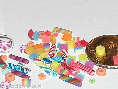 15pc miniature dollhouse barbie size tiny Easter Mix Candy jar mini treats food