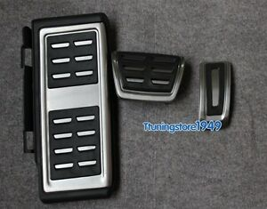 Foot rest Fuel Brake AT pedal Plate Cover For Audi A3 S3 (8V) 2013-up LHD