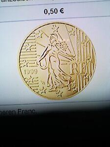 3 Kursmünzen aus KMS Frankreich aus dem Jahr 2021 10 Cent - 50 Cent
