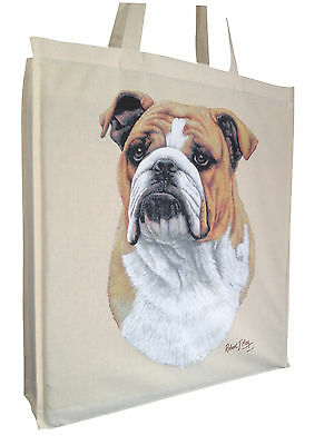 Bulldog RM Cotton Shopping Tote Bag with Gusset and Long Handles Perfect Gift