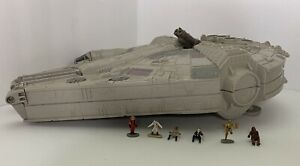 Vintage 1995 Galoob Micro Machines Star Wars Millennium Falcon Playset 6 Figures