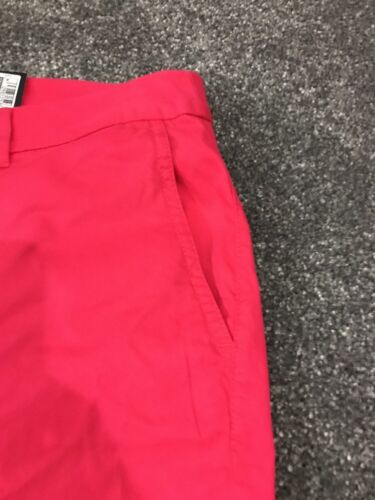 M/&S  Women Hot Pink 100/% Cotton Casual Shorts BNWT Size 16 Free Sameday Postage