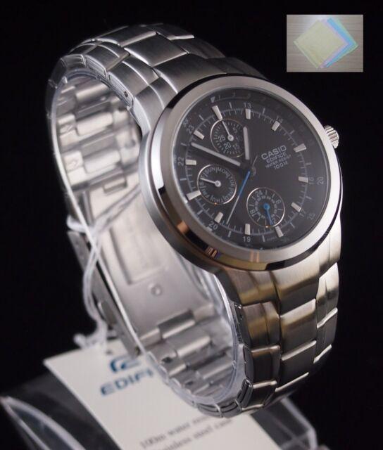 b9a0f3f659f8 Casio Edifice Analog 3-eye Men s Black Watch Ef-305d-1 100 Original ...