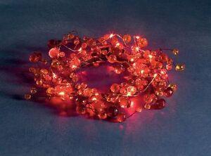 Konstsmide 1266-550 LED lichtertkranz rouge dekorkanz 25cm acrylique perles de verre
