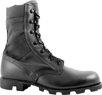 McRae Hot Weather All Black Jungle Boot with Panama Outsole-9189
