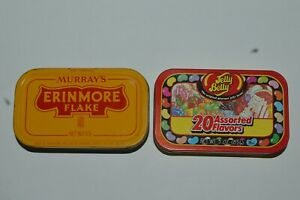 Vintage-Murray-039-s-Erinmore-Flake-Tin-Can-Jelly-Belly-Tin-Can-Both-Are-Empty