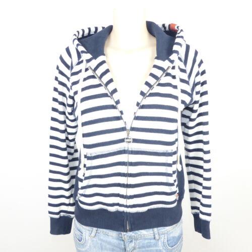 Adenauer /& Co Sweatjacke Blu Strisce hoodie tg S