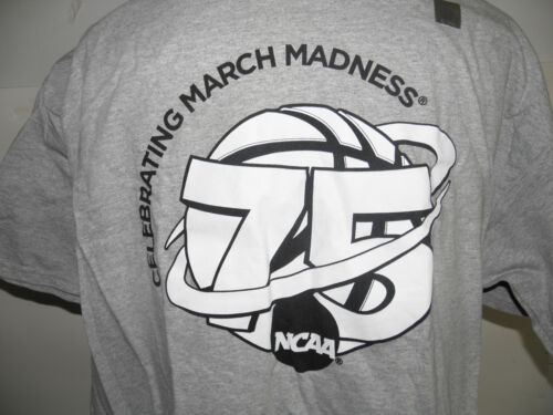 NEUF sans Original balises National Collegiate Athletic Association Celebrating 75 years of march Madness T-shirt Taille 2XL