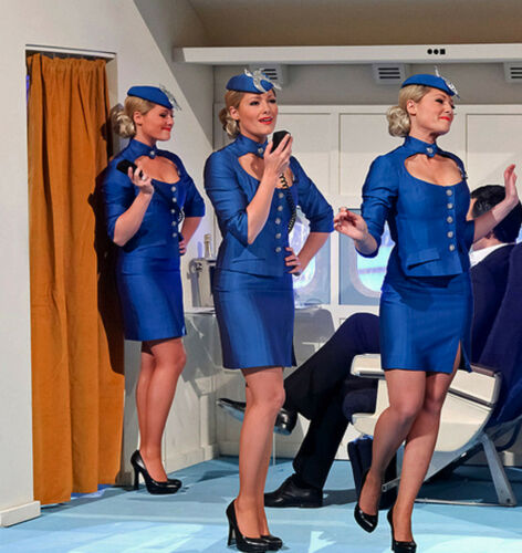 REDUCED 3 x pack Air Hostess Cabin Crew 15D Gloss Shine Tights REINFORCED