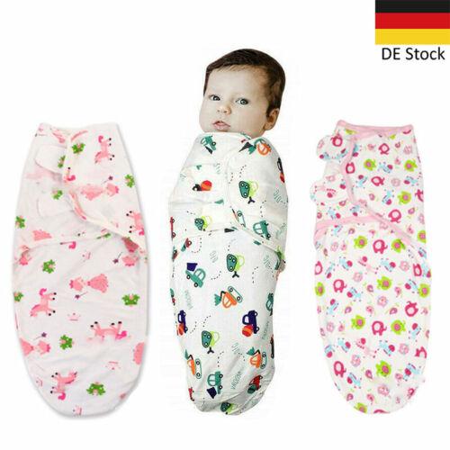 Baby Swaddle Wrap Pucktuch Baumwolle Wickeltuch Pucksack Schlafsack 0-6 Monat JY