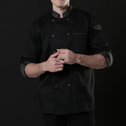 Men//Women Chef Cook Food Service Breathable Clothes Overalls Kitchen Uniform NEW