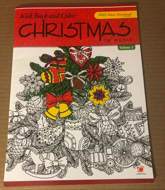 Adult Coloring Book Kick Back And Color To Music Christmas Downloadable 5 Songs For Sale Online Ebay