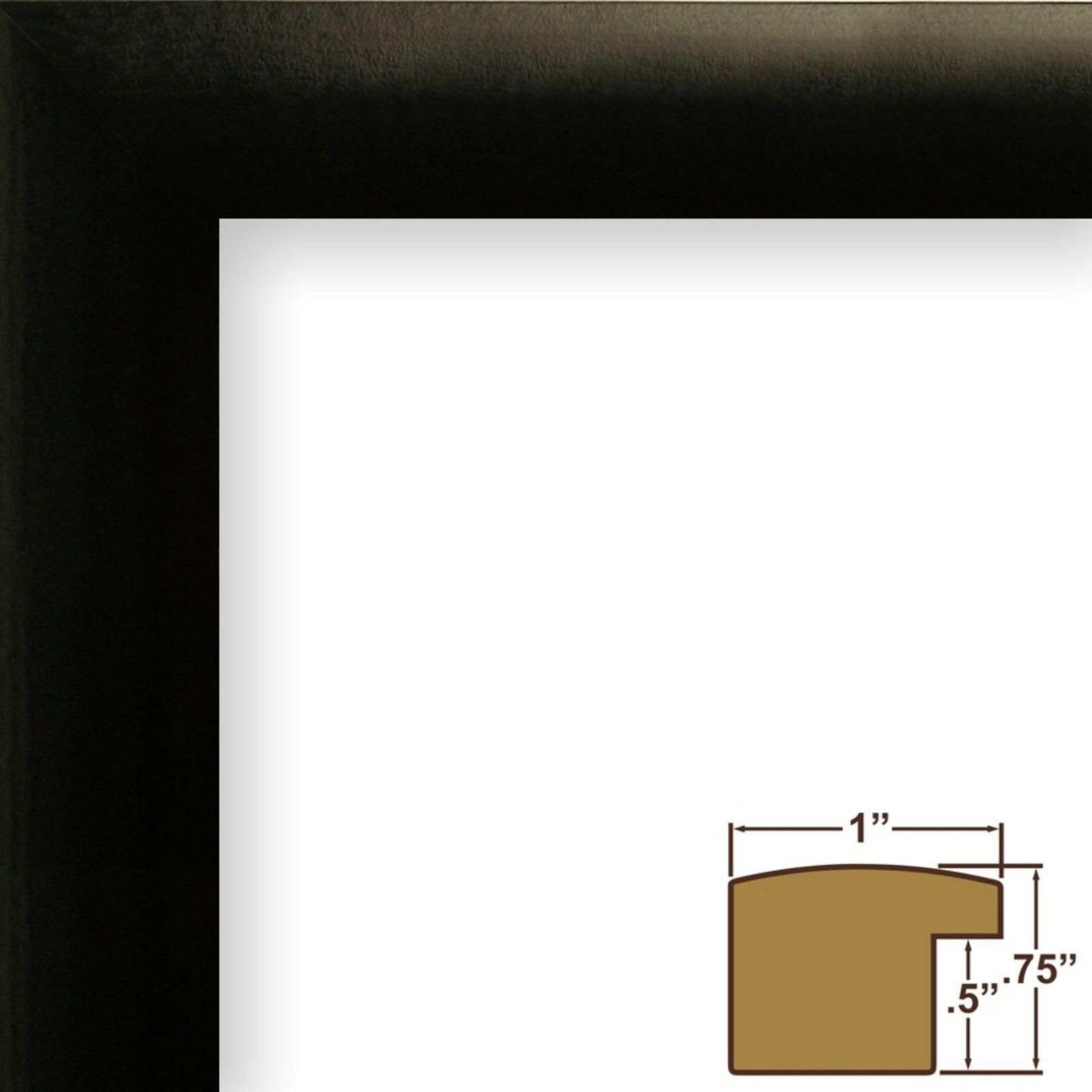 Craig Frames 14x20-inch Black Picture Frame Single White Collage Mat ...