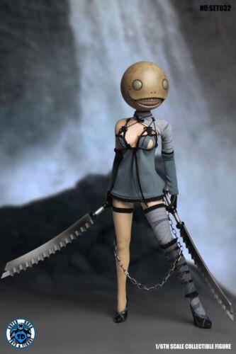 1//6 Super Duck SET032 NieR Automata Bring Arts Kaine with S04B Female Figure