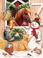 Barn Door Crowd 300 Piece Jigsaw Puzzle By Sunsout