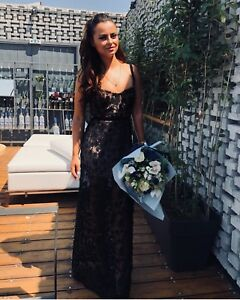 c66bbf734303 For Love & Lemons Beatrice Strappy Maxi Dress, Black, SizeXS/S/M NWT ...