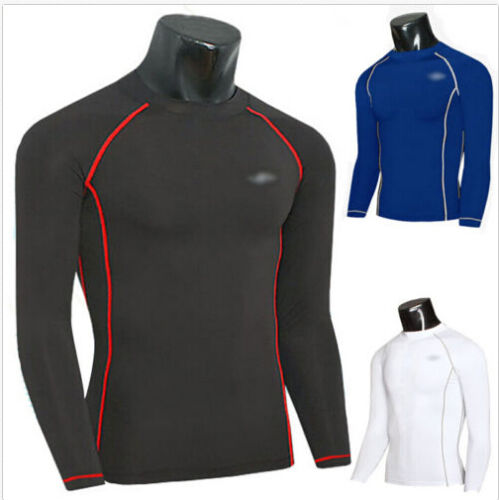 Mens Compression Base Layer Fitness Gym Workout Long Tight Shirts Pants Hot 2019
