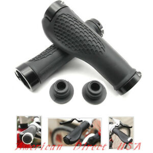 Bike-Grips-Rubber-Mountain-Bicycle-MTB-Handlebar-Ergonomic-Cycling-Lock-On-TPR