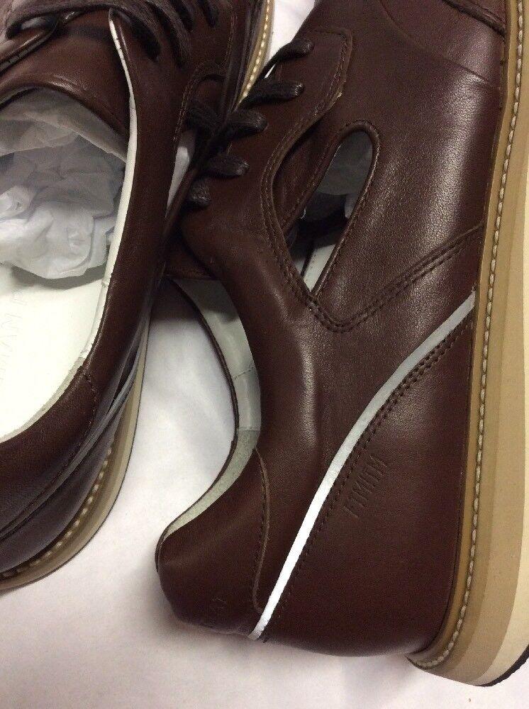 New Uomo's Plat  FTMITM Freeman Plat Uomo's Lace Jogger, Size 12 Brown Leather , EUR Size 45 bb8bdc
