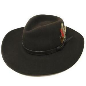 Caricamento dell immagine in corso Cappello-da-Cowboy-Cappello -Fedora-Ripiegabile-Safari-Lana- 9f913f3b5522