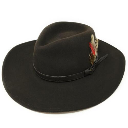 Fedora Hat Crushable Safari Wool Felt Cowboy Hat