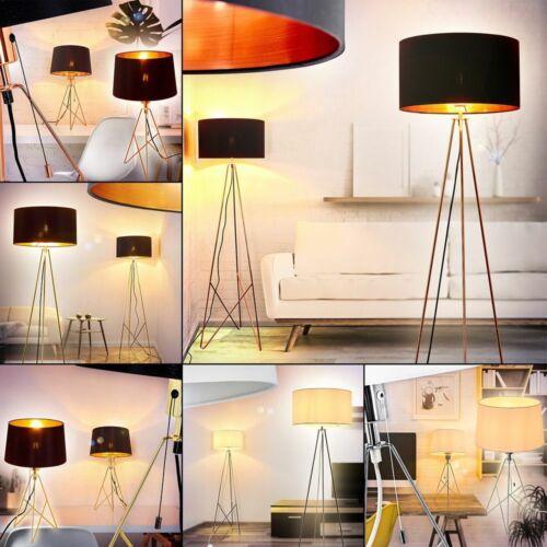 Bambus//Stoff Steh Stand Lampen Boden Leuchten Wohn Schlaf Zimmer Beleuchtung