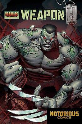 Weapon H #1 Kubert Wolverine Homage Variant Marvel Comic 1st Print EXCELSIOR BIN