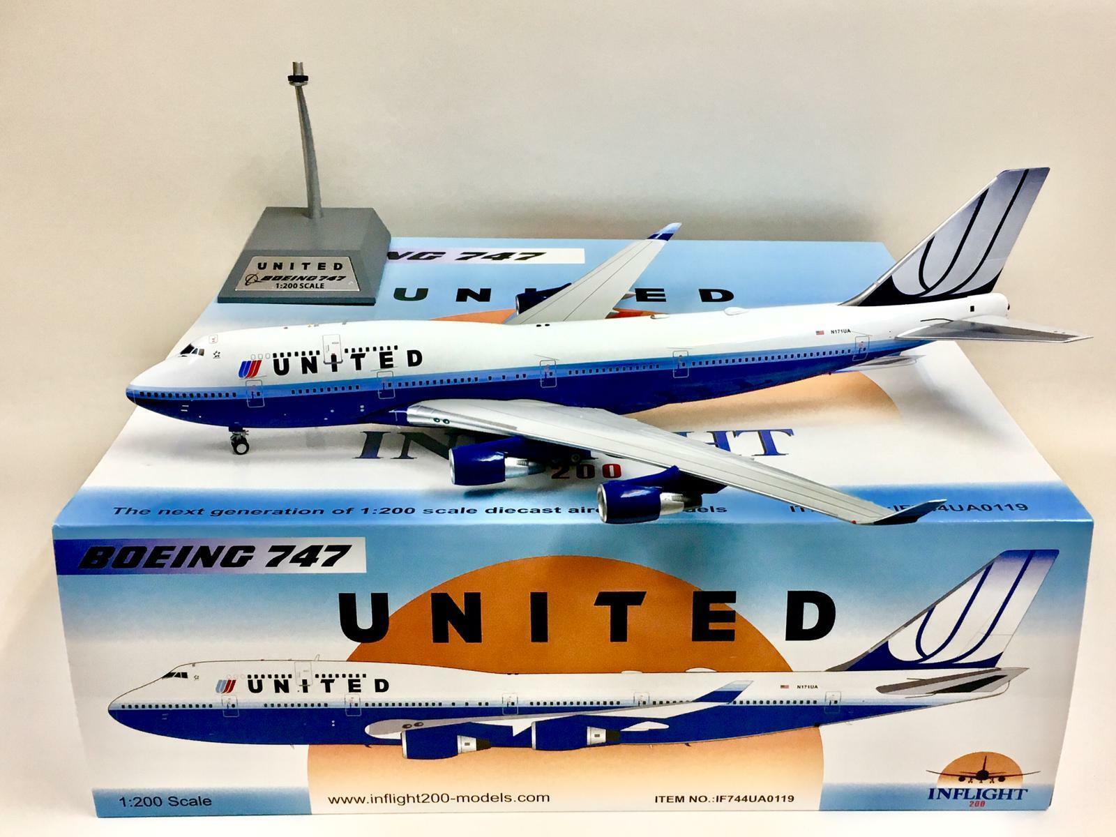 Inflight 200 United Airlines Boeing 747-400 1 200 N171UA IF744UA0119