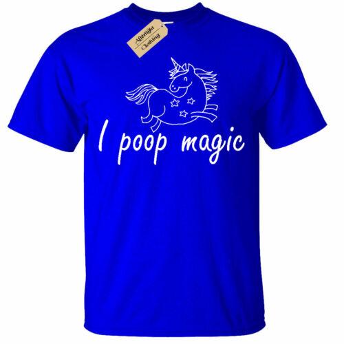 Unicorn T-Shirt I Poop Magic Funny Mens
