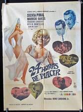 738 Silvia Pinal, 24 HORAS DE PLACER original Mexican movie poster 1969