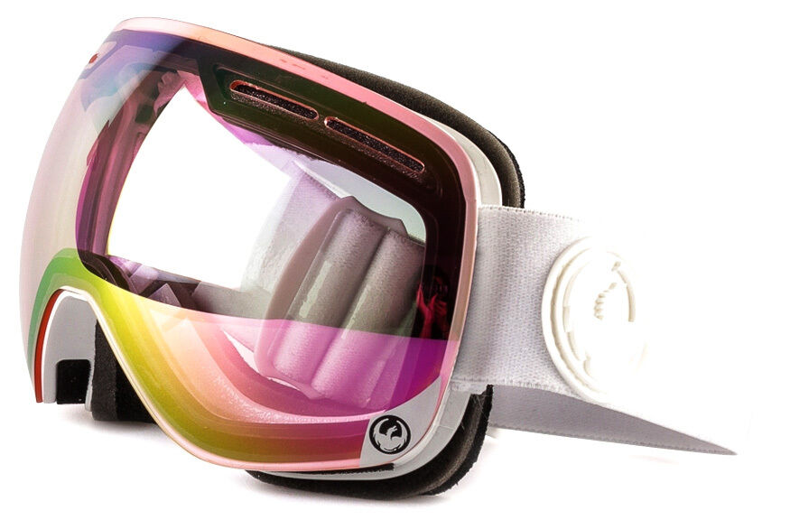 NEW 2016 Dragon X1S Goggles-White  Out-Pink Ion+Ion Lens-SAME DAY SHIPPING   up to 60% off