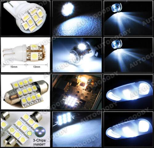 Tool 6 x Premium Xenon White LED Lights Interior Package Kit for Scion FRS