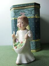 """Lenox Classics """"CHEERFUL GIVER"""" Girl w/Fruit-Bare Foot Blessing Series-RETIRED"""