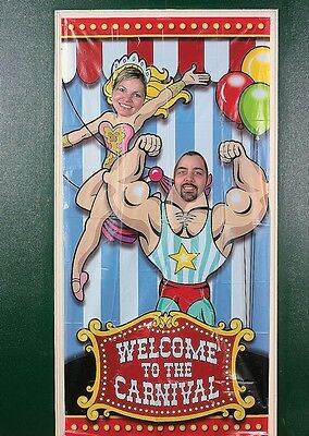 UNDER THE BIG TOP CARNIVAL CIRCUS PARTY PHOTO DOOR BANNER PROP DECORATIONS