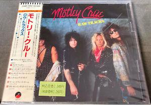 Mötley Crüe - RAW TRACKS - rare Japan CD - 25XD-1052 - 1st Press - OBI - NEU/OVP