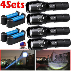 US-Tactical-350000LM-LED-Flashlight-Ultra-Super-Bright-Zoomable-Torch-Light-Lamp