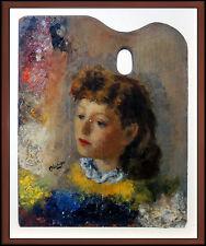 Robert Philipp Rare Original Painting Oil On Board Signed Portrait Artwork SBO