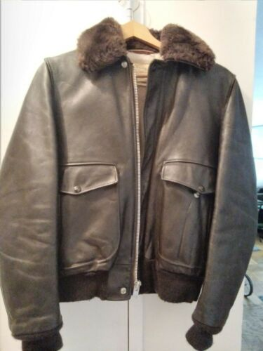 Schott leather flight jacket