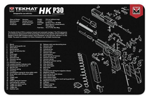 heckler koch hk p30 armorers gun cleaning bench mat. Black Bedroom Furniture Sets. Home Design Ideas