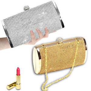 Bridesmaid Gift Clutch Purse Gold and white Wedding  Formal Gold Clutches