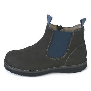 BOYS NAVY FAUX SUEDE CHELSEA GUSSET PULL ON WALKING BOOTS SHOES KIDS UK SIZE 8-5