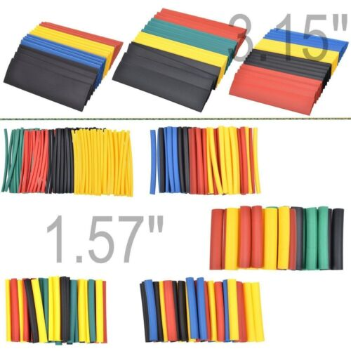 328 pcs 2:1 Polyolefin Heat Shrink Tubing Tube Sleeve Wrap Wire Connector 8 Size