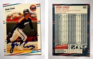 Jose-Cruz-Signed-1988-Fleer-443-Card-Houston-Astros-Auto-Autograph