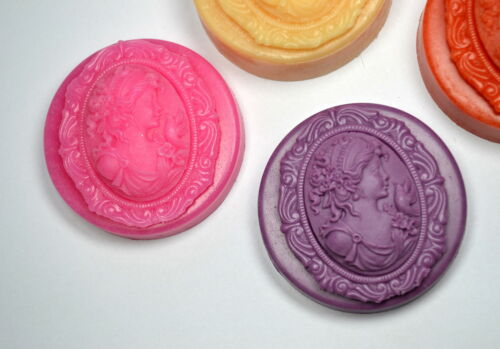 LADY SOAP SILICONE MOLD PLASTER WAX RESIN MOULD